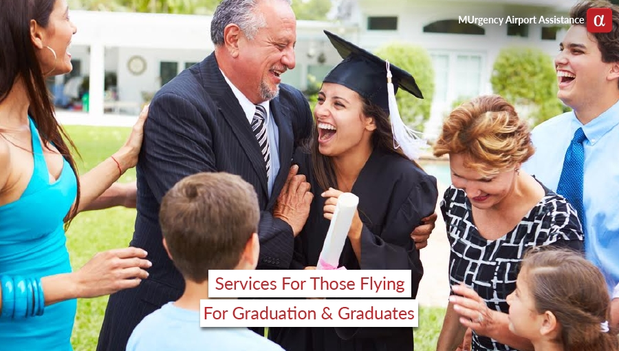 graduation, graduates, graduation ceremony, flying for graduation, attending graduation ceremony