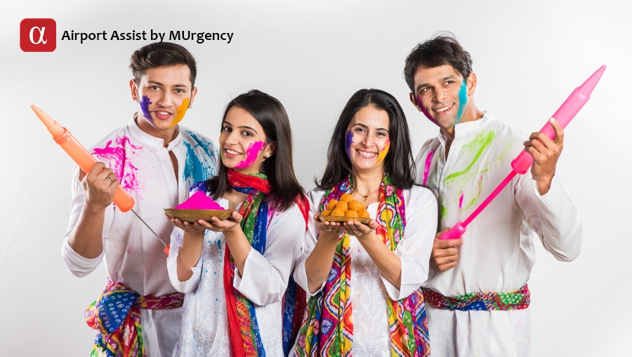 holi festival, indian airport, udaipur holi, anandpur sahib holi, mathura airport, mathura holi festival, barsana holi, barsana festival